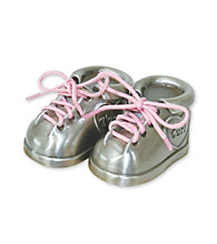 Stephan Baby 1st Tooth and Curl Shoes - Silver