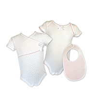 Stephan Baby 3-pc. Snapsuit/Bib Set - Pink