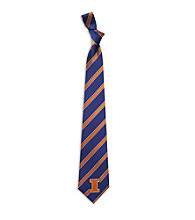 NCAA® University of Illinois Men's Necktie - Logo Stripe