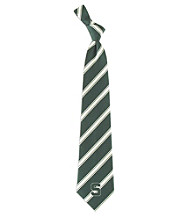 NCAA® Michigan State University Men's Necktie - Logo Stripe