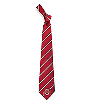 NCAA® Ohio State University Men's Necktie - Logo Stripe