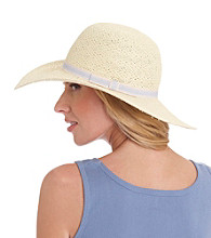 August Accessories® Preppy Floppy Straw Hat