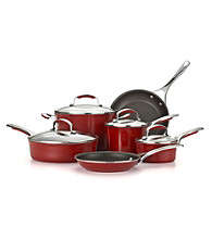 KitchenAid® Red Gourmet Aluminum 10-pc. Cookware Set