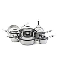 KitchenAid® Gourmet Stainless Steel 12-pc. Set with Black Silicone Handles