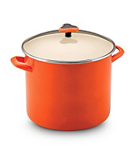 Rachael Ray® Orange Enamel 12-qt. Stockpot with Glass Lid