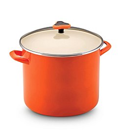 Rachael Ray® 12-qt. Orange Enamel Stockpot with Glass Lid