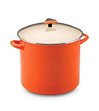 Rachael Ray® Orange Enamel 16-qt. Stockpot with Glass Lid