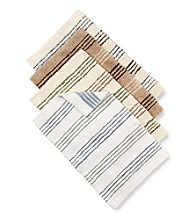LivingQuarters Reversible Cotton Stripe Bath Rug