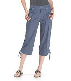 Izod® Shirred Pocket Utility Capri Pants