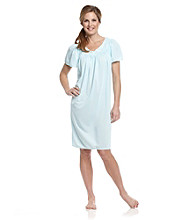 Miss Elaine® Embroidered Tricot Nightgown