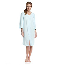 Miss Elaine® Buttonfront Tricot Robe