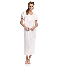 Miss Elaine® Long Embroidered Tricot Nightgown