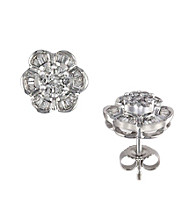Effy® 14K White Gold and .60 ct. t.w. Diamond Earrings