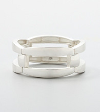 Kenneth Cole® Link Stretch Bracelet - Silvertone