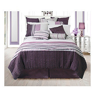 Eternity Plum Bedding Collection by Lawrence Home Fashions