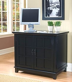 Home Styles® Prairie Compact Computer Cabinet - Black