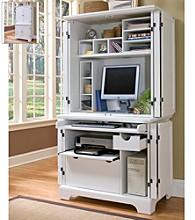 Home Styles® Boca Compact Computer Cabinet with Hutch - White