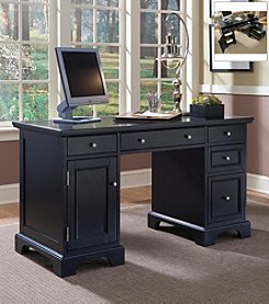 Home Styles® Birmingham Pedestal Desk - Black