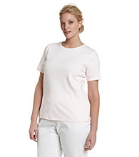 Jones New York Signature® Plus Size Tee with Inner Contrast Trim