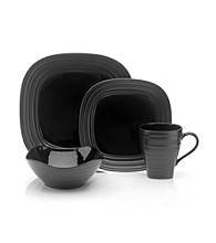 Mikasa® Swirl Square Black 4-pc. Place Setting