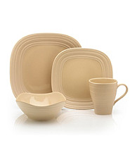 Mikasa® Swirl Square Tan 4-pc. Place Setting