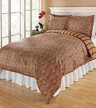 Elite Home Products Tuscan Paisley 300-Thread Count Cotton Duvet Sets