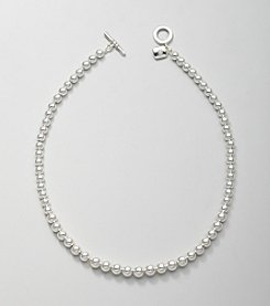 Lauren Ralph Lauren Silvertone Graduated Beaded Necklace