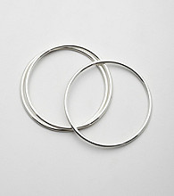 Lauren Ralph Lauren Set of Three Silvertone Bangle Bracelets
