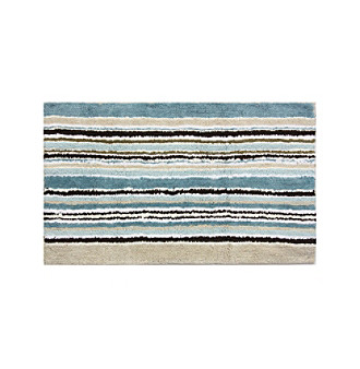 Bacova® Long Stripes Reversible Cotton Bath Rug