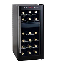 Sunpentown® 18-Bottle Dual-Zone Thermo-Electric Wine Cooler with Heating Technology