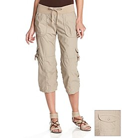 Calvin Klein Performance Ruched Cargo Capri Pants
