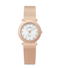 Skagen Denmark Women's Rose Goldtone Mesh Watch