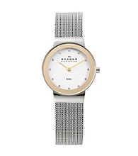 Skagen Denmark Women's Two-Tone Mesh Watch