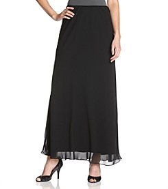 Alex Evenings® Chiffon A-Line Skirt - Black
