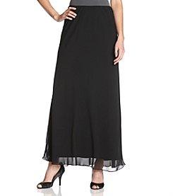 Alex Evenings® Chiffon A-Line Skirt - Black