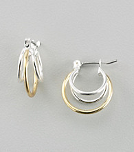 Napier® Two Tone Orbital Hoop Earrings