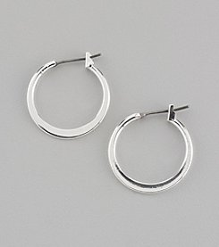 Napier® Medium Silvertone Hoop Earrings