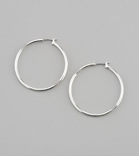 Napier® Large Silvertone Hoop Earrings