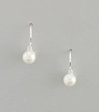 Lauren Ralph Lauren Cubic Zirconia and Faux Pearl Drop Earrings