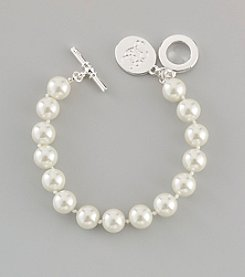 Lauren Ralph Lauren White Faux Pearl Bracelet