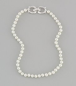 Lauren Ralph Lauren White Faux Pearl Necklace
