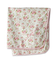 Little Me Baby® Girls' Cabbage Rose Print Blanket - White Floral