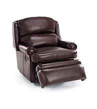 Bradington-Young® Bedford Bustleback Leather Recliner - Burgundy