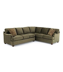 Bauhaus Captain Basil Microfiber Sectional with Accent Pillows