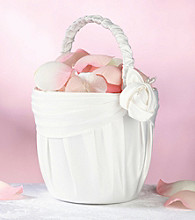 Lillian Rose® Cream Rose Flower Girl Basket