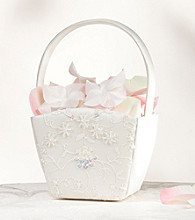 Lillian Rose® Ivory Sequin & Lace Flower Girl Basket