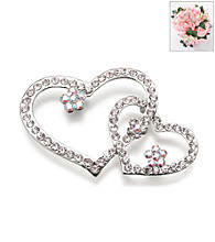 Lillian Rose® Rhinestone Heart Flower Pick