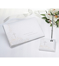 Lillian Rose® White Christian Guestbook & Pen