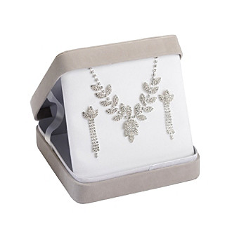 Lillian Rose® Rhinestone Necklace & Earring Set
