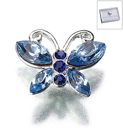 Lillian Rose® Something Blue Butterfly Pin